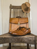 Moda masculina del paño del vintage. Foto de archivo libre de regalías