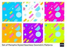 Moda Memphis Style Geometric Pattern del inconformista Fotos de archivo
