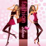 Moda modelów przedstawienie odziewa Obraz Royalty Free