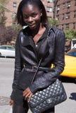 Moda model Jeneil Williams podczas Nowy Jork mody tygodnia obraz stock