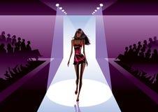 Moda model na przeglądzie royalty ilustracja