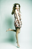 Moda model z kędzierzawym włosy Obraz Royalty Free