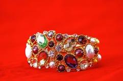 Moda modela biżuteria Fotografia Stock