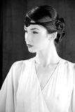 Moda modela gatsby styl 20s Zdjęcia Royalty Free