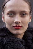 Moda modela Karmen Pedaru piękna portreta oka makeup zdjęcie stock