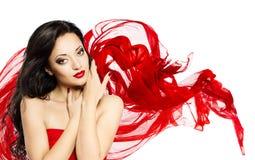 Moda modela piękna portret, Azjatycki kobiety twarzy Makeup fotografia royalty free