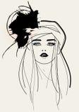 Moda modela twarz Fotografia Royalty Free