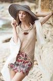 Moda na plaży Zdjęcia Stock