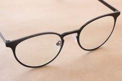 Moda negra del estilo del vintage del marco de las lentes claras Fotos de archivo libres de regalías