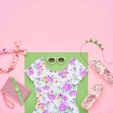 Moda Odzieżowi akcesoria Ustawiający Lato strój Fotografia Royalty Free