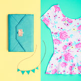 Moda Odzieżowi akcesoria Ustawiający strój minimalizm obrazy stock
