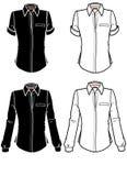 moda płytek koszulę skrótem długie rękawy Zdjęcie Stock