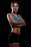 Młoda piękna kobieta w sprawności fizycznej odzieży Zdjęcia Royalty Free