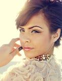 moda piękny elegancki model Obraz Royalty Free