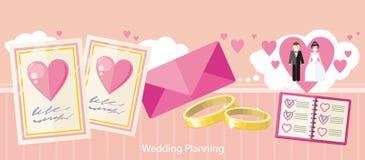 Moda plana del diseño de planeamiento de la boda ilustración del vector