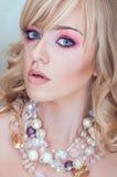 Moda portret blondynki kobieta Zdjęcia Royalty Free