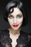 moda portret kobiety Piękno dziewczyna z czarni włosy Obrazy Stock