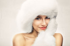 Moda portret młoda piękna kobieta Obrazy Stock