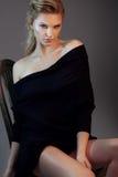 Moda portret piękny kobieta model zdjęcie royalty free