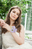 Moda portret Piękny moda model Fotografia Royalty Free