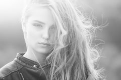 Moda portret zmysłowa seksowna dziewczyna Piękno i moda Zdjęcia Stock