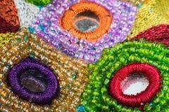 Moda projekta elementy na tkaninie Zdjęcia Royalty Free