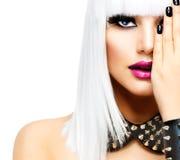 Moda ruchu punków stylu dziewczyna Obrazy Royalty Free