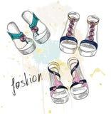 Moda sandały ilustracja wektor