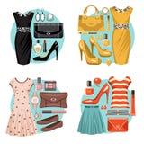 Moda set Obrazy Stock