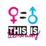 Moda slogan To jest feminizmem Feministyczny slogan, projekt koszulki druk lub broderia, łaty Typografia, koszulka dla ilustracja wektor