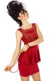 Moda splendoru dziewczyna z kreatywnie fryzurą. Obraz Royalty Free