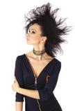 Moda splendoru dziewczyna z kreatywnie fryzurą. Obrazy Royalty Free