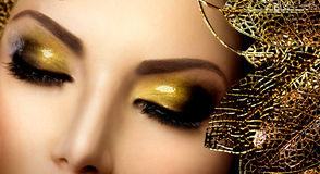 Moda splendoru Makeup Zdjęcie Royalty Free