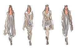 Moda stylizowani modele ilustracja wektor