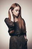Moda stylu strzał piękny model fotografia royalty free