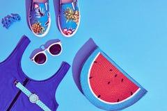 Moda Sunny Summer Set Ambientes calientes de la playa mínimo Foto de archivo libre de regalías