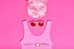 Moda Sunny Summer Set Ambientes calientes de la playa mínimo Imagenes de archivo
