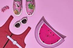Moda Sunny Summer Set Ambientes calientes de la playa mínimo Imagen de archivo