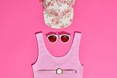 Moda Sunny Summer Set Ambientes calientes de la playa mínimo Imágenes de archivo libres de regalías