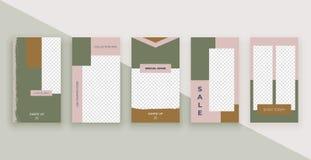 Moda szablony dla opowieści Nowożytny pokrywa projekt dla ogólnospołecznych środków, ulotki, karta ilustracji