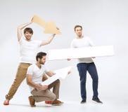 Moda tirada de algunos muchachos alegres Fotografía de archivo libre de regalías