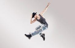 Moda tirada de un bailarín joven del hip-hop Imagen de archivo