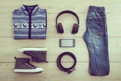 Moda ustawiająca dla młodej chłopiec Fotografia Stock
