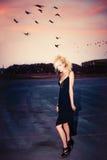 Moda w półmroku Fotografia Stock