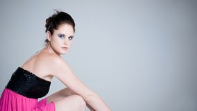 Moda w różowej sukni Zdjęcie Stock