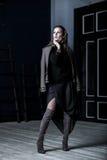Moda wojskowy Projektuje Model w kurtce Fotografia Stock