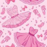 Moda wzór balet suknia ilustracji
