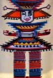 Moda y fondo coloreado de la manta Foto de archivo libre de regalías