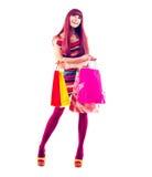 Moda zakupy dziewczyna Zdjęcia Royalty Free