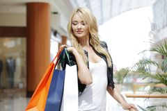 Moda zakupy kobieta Zdjęcie Stock